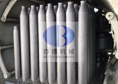 5 - 7mm Thickness SISIC Material Flaming Tubes With High Thermal Conductivity